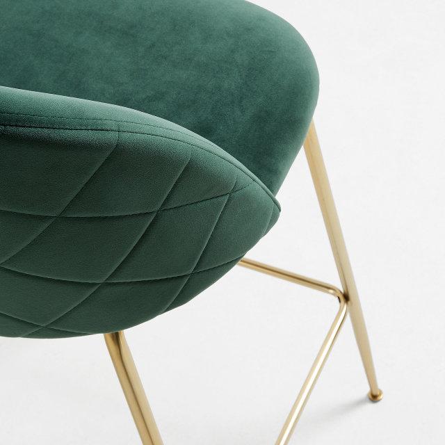 Barska stolica Ivonne Velvet Green/Gold