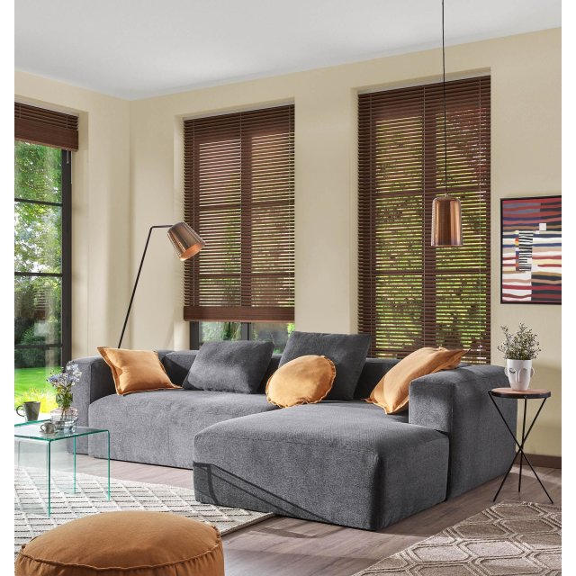Kutna sofa Blok Dark Grey Right