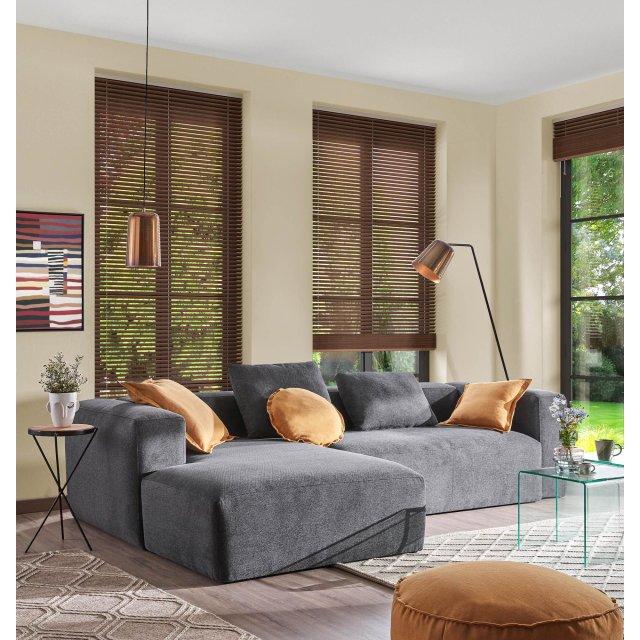 Kutna sofa Blok Dark Grey Left