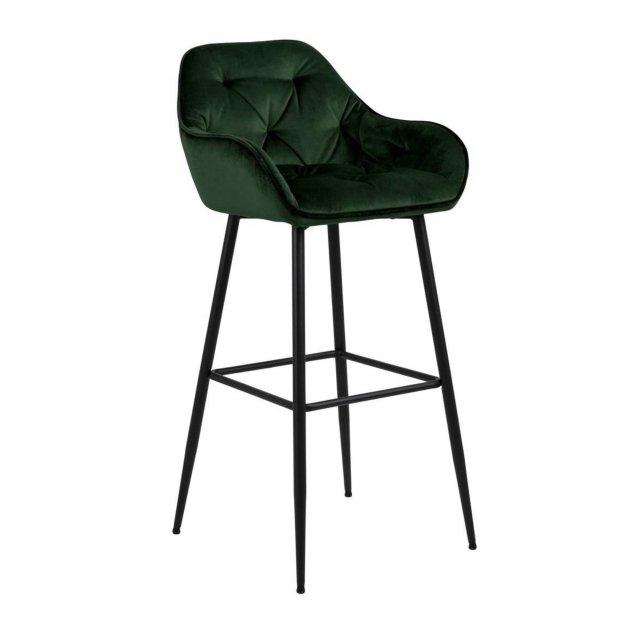 Barska stolica Brooke Velvet Forest Green