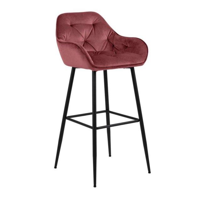 Barska stolica Brooke Velvet Coral