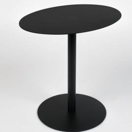 Pomoćni stolić Snow Black Oval