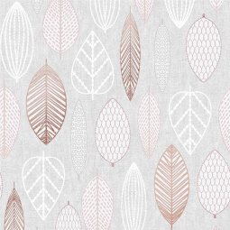 Tapeta Scandi Leaf Blush Pink