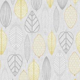 Tapeta Scandi Leaf Yellow