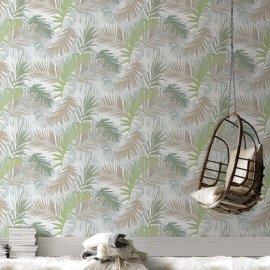 Tapeta Jungle Glam White/Green