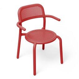 Stolica s rukonaslonom Toní Industrial Red