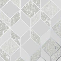 Tapeta Vittorio Geo Grey/Silver