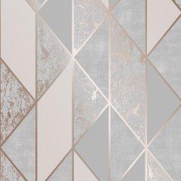 Tapeta Milan Geo Rose Gold/Grey