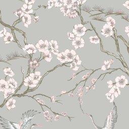 Tapeta Japan Grey/Pink