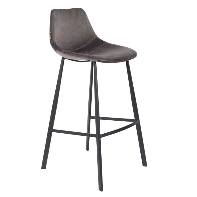 Barska stolica Franky Velvet Grey