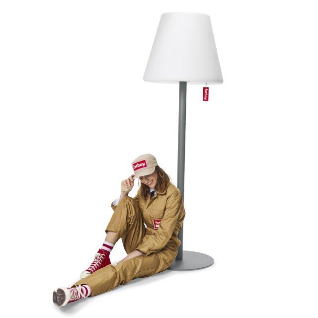 Podna lampa Edison The Giant Grey