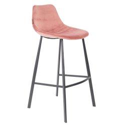 Barska stolica Franky Velvet Old Pink