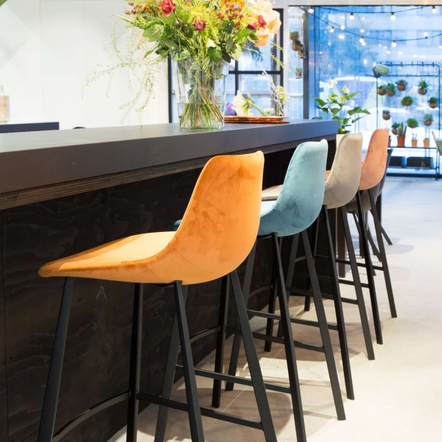 Barska stolica Franky Velvet Orange