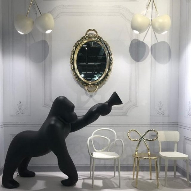 Podna lampa Kong Black