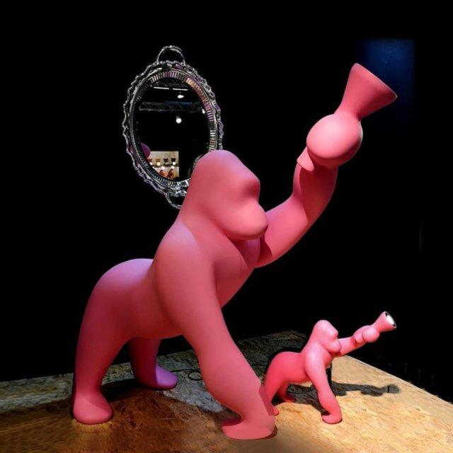Lampa Kong XS Bright Pink