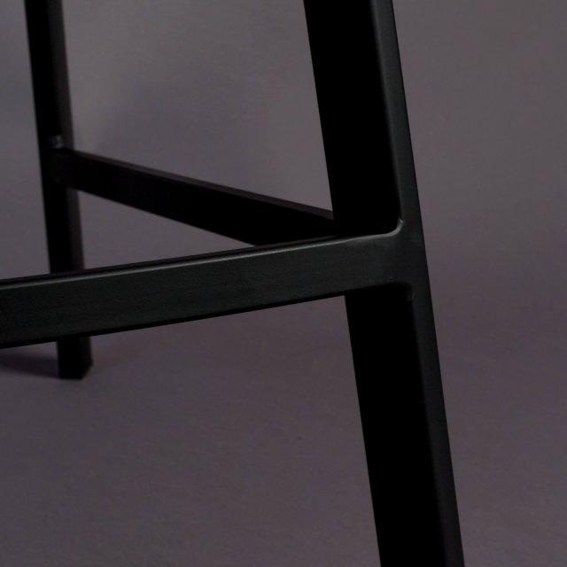 Polubarska stolica Franky Velvet Grey