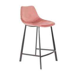 Polubarska stolica Franky Velvet Old Pink