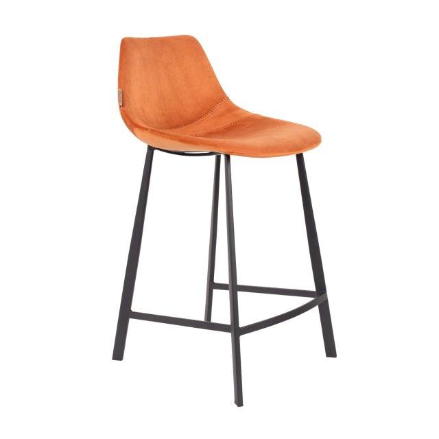 Polubarska stolica Franky Velvet Orange