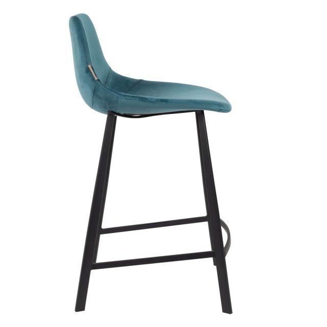 Polubarska stolica Franky Velvet Petrol