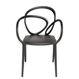 Stolica Loop Black - set od 2 kom.