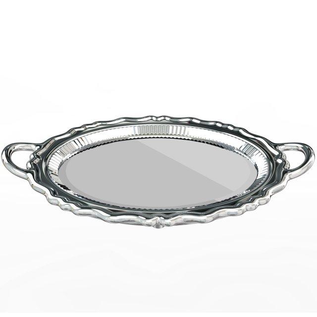 Ogledalo Plateau Metal Silver