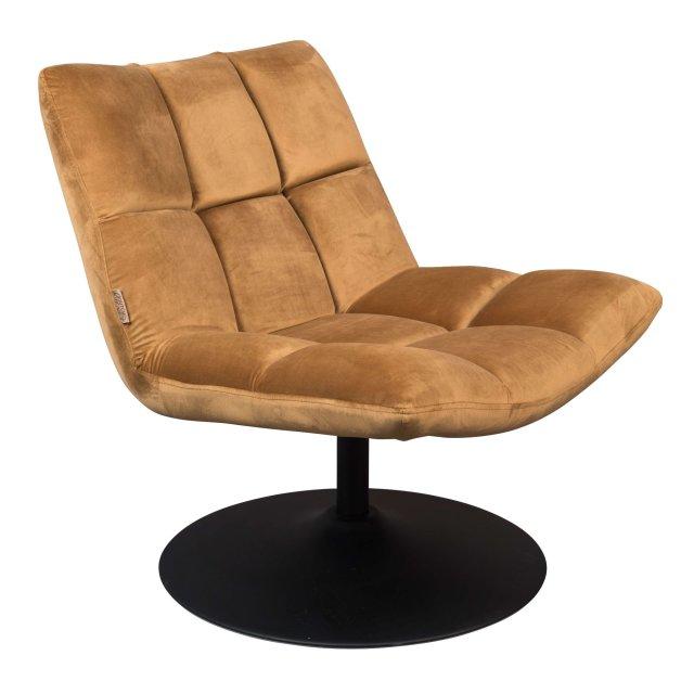Fotelja Bar Velvet Golden Brown