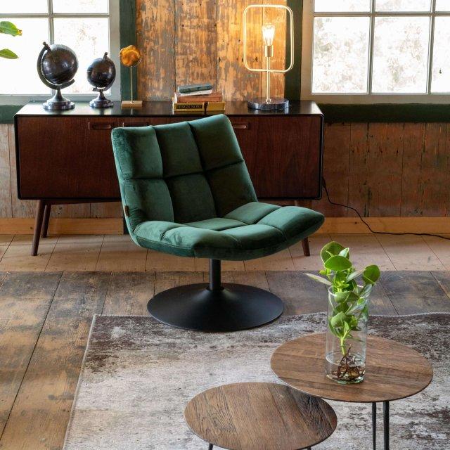 Fotelja Bar Velvet Green