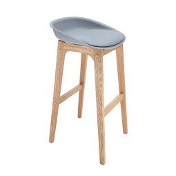 Polubarska stolica Cindy Grey/Natural