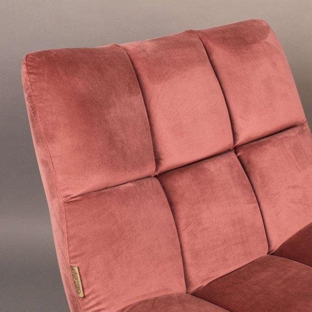 Fotelja Bar Velvet Old Pink