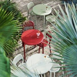 Bistro stol Toní Industrial Red
