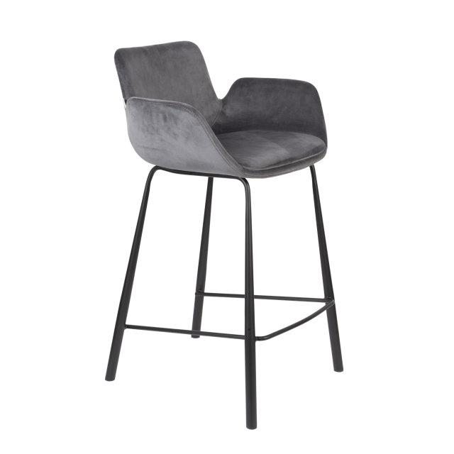 Polubarska stolica Brit Dark Grey