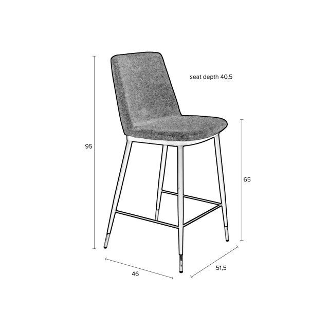 Polubarska stolica Lionel Dark Grey