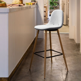 Polubarska stolica Nilson Light Grey