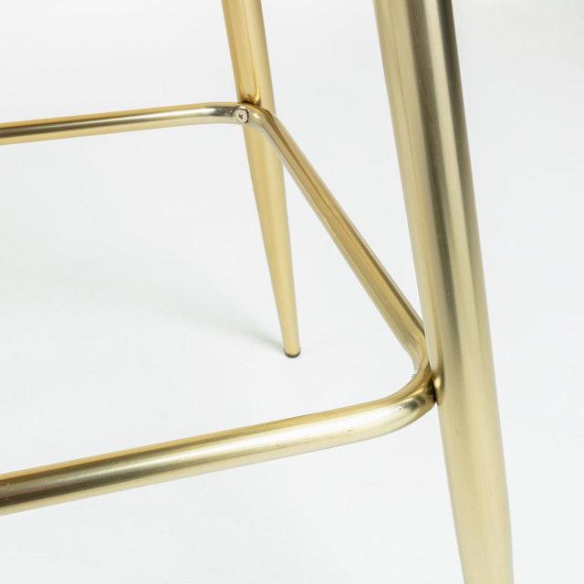 Barska stolica Nolite Velvet Blue/Gold