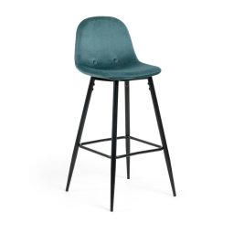 Barska stolica Nilson Velvet Turquoise/Black
