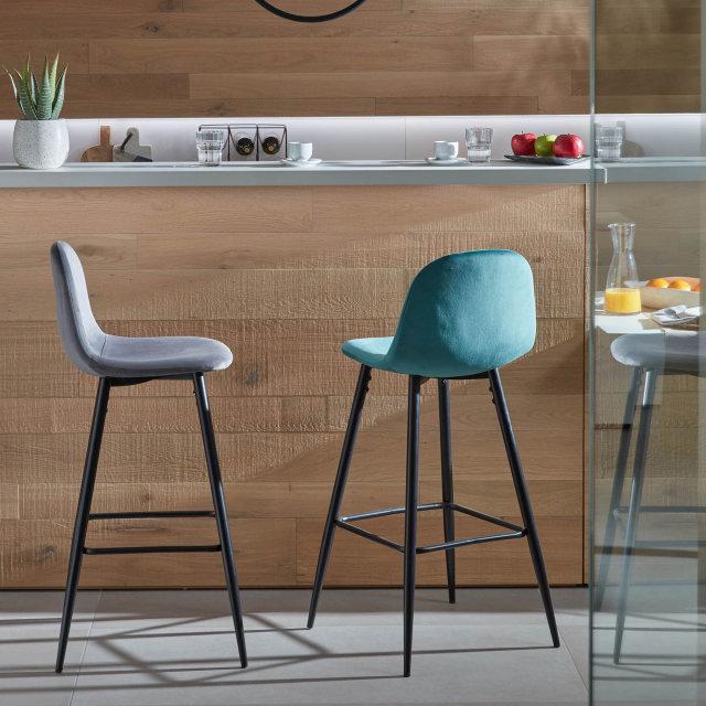 Barska stolica Nolite Velvet Turquoise/Black