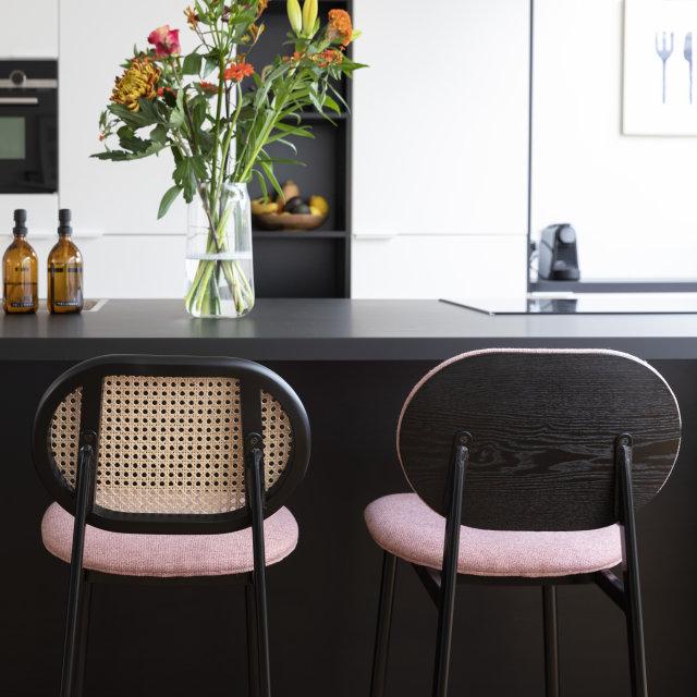 Polubarska stolica Spike Pink