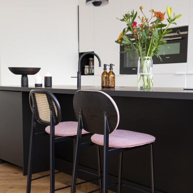 Polubarska stolica Spike Natural/Pink