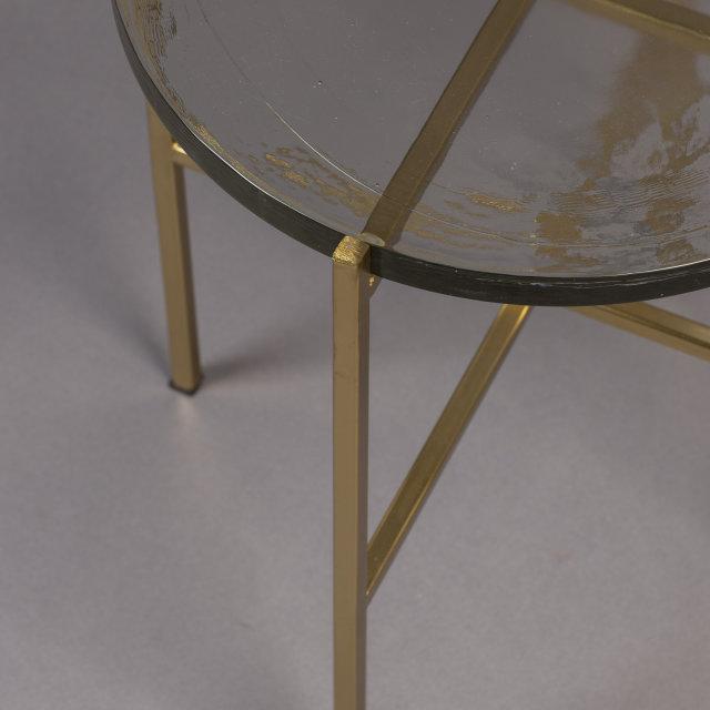 Pomoćni stolić Vidrio Brass