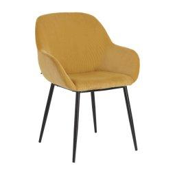 Stolica s rukonaslonom Konna Corduroy Mustard