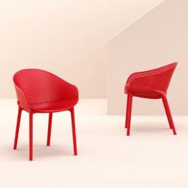 Stolica s rukonaslonom Sky Red