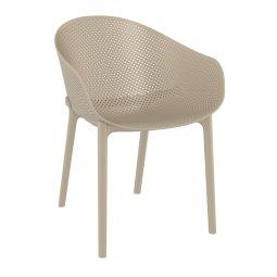 Stolica s rukonaslonom Sky Taupe