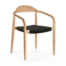 Stolica s rukonaslonom Nina Natural/Black