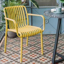 Stolica s rukonaslonom Isabellini Yellow