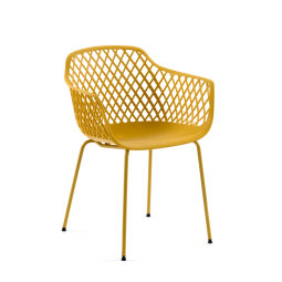 Stolica s rukonaslonom Quinn Yellow
