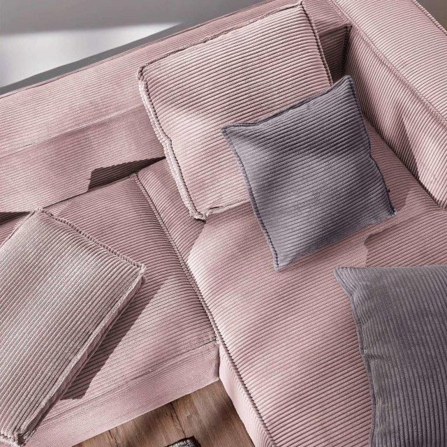 Kutna Sofa Blok Right Pink