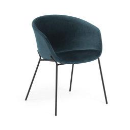 Stolica s rukonaslonom Yvette Velvet Turquoise