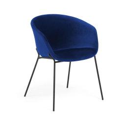 Stolica s rukonaslonom Yvette Velvet Blue