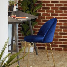 Stolica Ivonne Velvet Blue