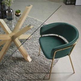 Stolica s rukonaslonom Runnie Velvet Green